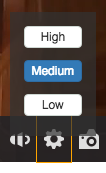 Quality selector button outline