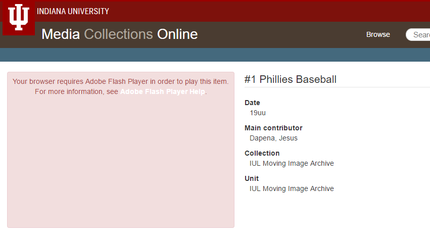 Enabling Flash Player in Google Chrome - Media Collections